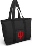 IU Indiana University Tote Bag Black Deluxe