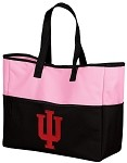 IU Indiana University Tote Bag Pink