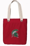 Michigan State University Rich RED Cotton Tote Bag