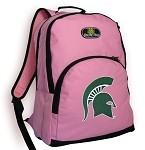 Michigan State University Backpack Pink