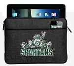Michigan State Peace Frog IPAD Sleeve or TABLET SLEEVE