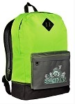 Michigan State Peace Frog Neon Green Backpack