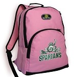 Michigan State Peace Frog Backpack Pink