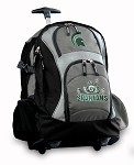 Michigan State Peace Frog Rolling Backpack Deluxe Gray