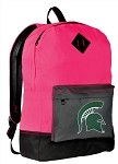 Michigan State University Neon PINK Backpack
