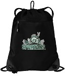 Michigan State Peace Frog Drawstring Bag Backpack