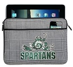 Michigan State Peace Frog IPAD SLEEVE or TABLET SLEEVE Stylish Plaid