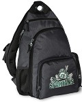 Michigan State Peace Frog Sling Backpack