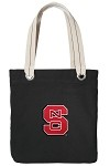 NC State Black Cotton Tote Bag