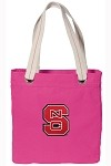 NC State NEON PINK Cotton Tote Bag