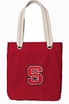 NC State Rich RED Cotton Tote Bag