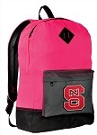 NC State Neon PINK Backpack
