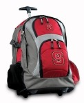 NC State Rolling Backpack Deluxe Red