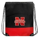 University of Nebraska Drawstring Bag Backpack Red