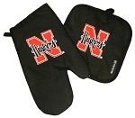 University of Nebraska Mitt Potholder Set