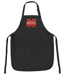 University of Nebraska Apron NCAA College Logo Black