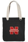 University of Nebraska Black Cotton Tote Bag