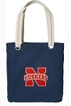University of Nebraska Rich NAVY Cotton Tote Bag
