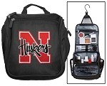 University of Nebraska Cosmetic Bag or Mens Shaving Kit - Travel Bag