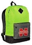 University of Nebraska Neon Green Backpack