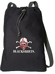 Nebraska Blackshirts Cotton Drawstring Bag