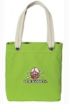 Nebraska Blackshirts NEON Green Cotton Tote Bag