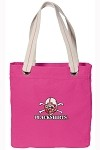 Nebraska Blackshirts NEON PINK Cotton Tote Bag
