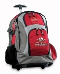 Nebraska Blackshirts Rolling Backpack Deluxe Red