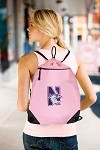 Northwestern University Pink Drawstring Bag Backpack