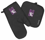 Northwestern University Mitt Potholder Set