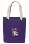 Northwestern University Rich Purple Cotton Tote Bag