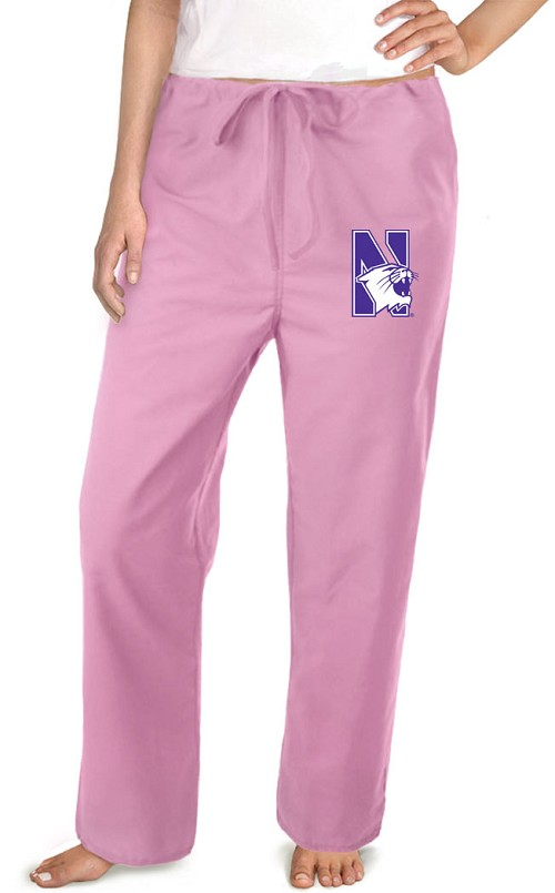 Northwestern University Pink Scrubs Pants Bottoms