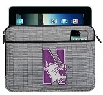 Northwestern University IPAD SLEEVE or TABLET SLEEVE Stylish Plaid