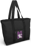 Northwestern University Tote Bag Black Deluxe