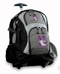 Northwestern University Rolling Backpack Deluxe Gray