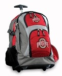 OSU Ohio State Buckeyes Rolling Backpack Deluxe Red
