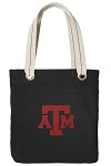 Texas A&M Aggies Black Cotton Tote Bag