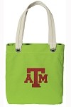 Texas A&M Aggies NEON Green Cotton Tote Bag