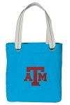 Texas A&M Aggies NEON BLUE Cotton Tote Bag