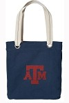 Texas A&M Aggies Rich NAVY Cotton Tote Bag