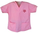 Texas A&M Aggies Pink Scrubs Tops SHIRT