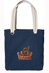 UVA Peace Frog Rich NAVY Cotton Tote Bag