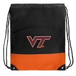 Virginia Tech Hokies Drawstring Bag Backpack Orange