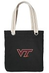 Virginia Tech Hokies Black Cotton Tote Bag