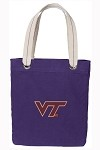 Virginia Tech Hokies Rich Purple Cotton Tote Bag