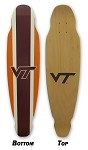 Virginia Tech Hokies Longboard Skateboard Deck