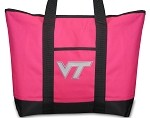 Virginia Tech Hokies Pink Tote Bag