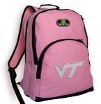Virginia Tech Hokies Backpack Pink
