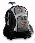 Virginia Tech Hokies Rolling Backpack Deluxe Gray