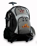 Virginia Tech Peace Frog Rolling Backpack Deluxe Gray